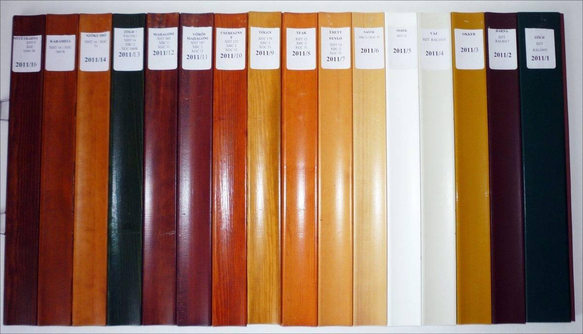 Választható faredőny színek